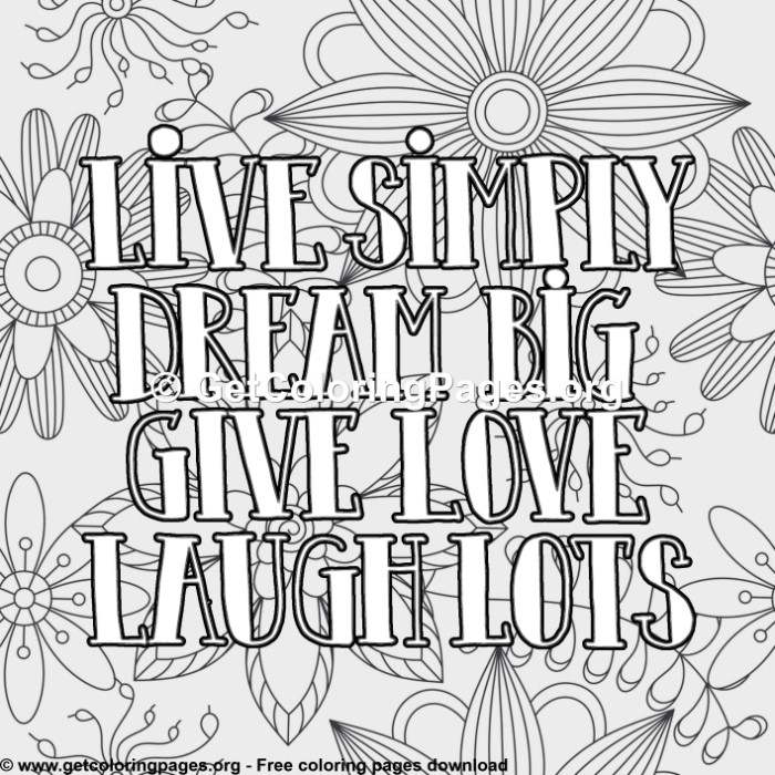 Love Quotes Live Simply Dream Big Give Love Laugh Lots