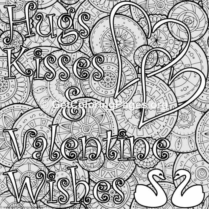 hugs and kisses coloring pages - photo#25