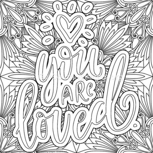 Inspirational Quotes Coloring Pages Free Printable