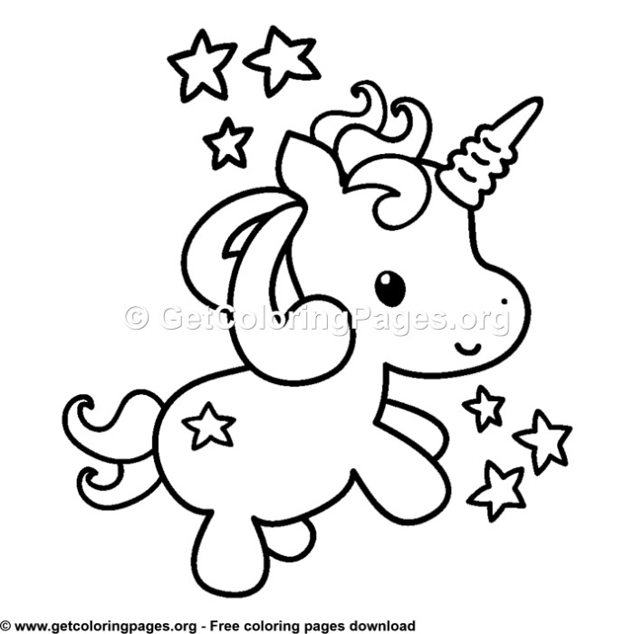 103 Cute Cartoon Baby Unicorn Coloring Pages ...