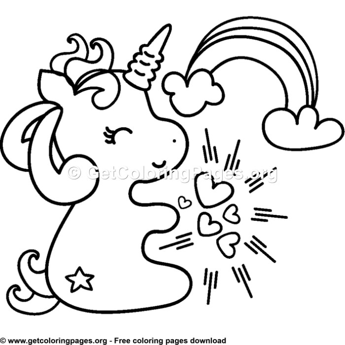 Coloring Pages Unicorns Printable - coloringpages2019