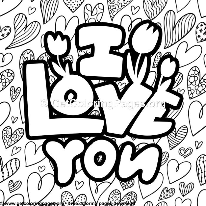 3 Cute I Love You Coloring Pages Getcoloringpages Org