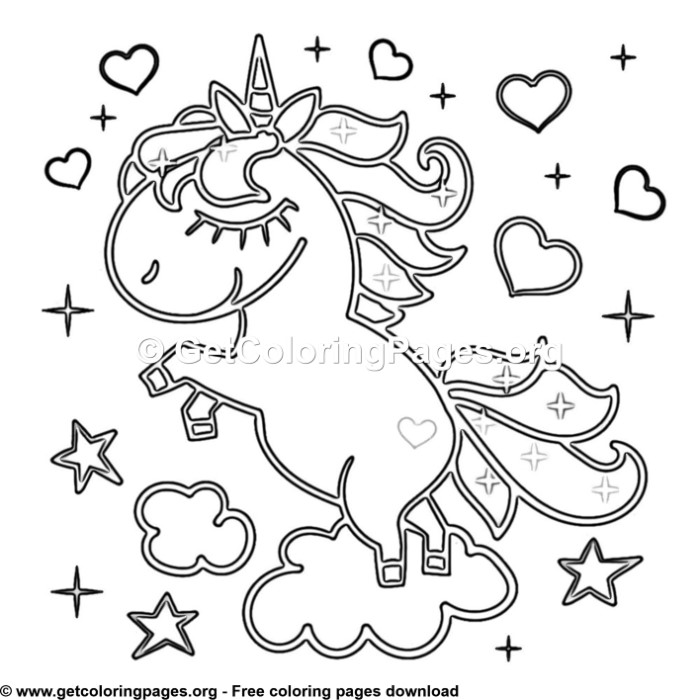 94 Cute Cartoon Unicorn Coloring Pages – GetColoringPages.org