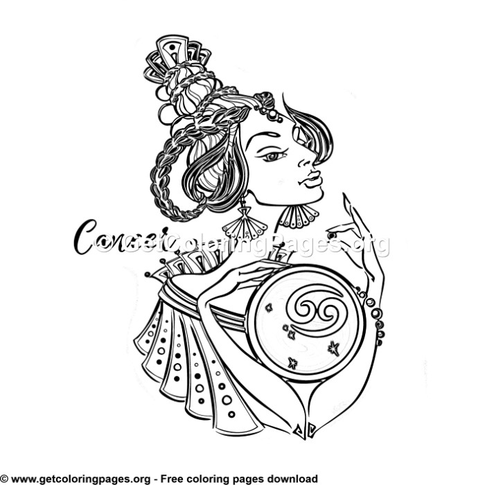Cancer - Zodiac Signs Coloring Pages - GetColoringPages.org