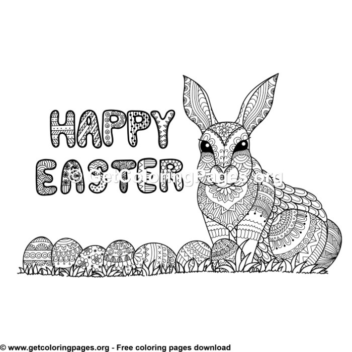 Easter – Bunny and Easter Eggs Coloring Pages – GetColoringPages.org