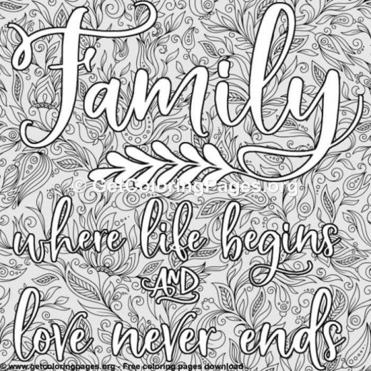i love my family coloring pages – GetColoringPages.org