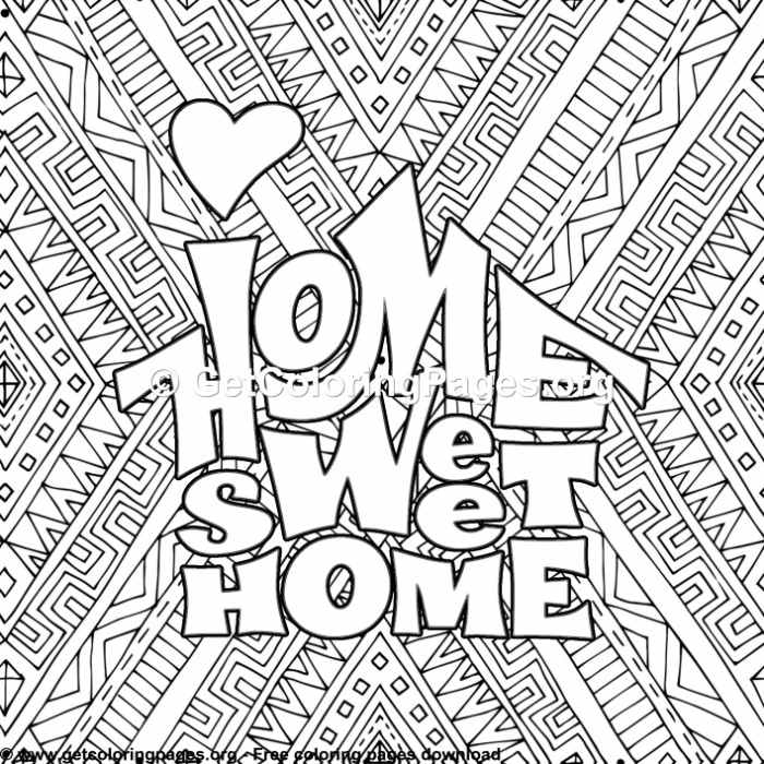 Love Home Sweet Home Coloring Pages Getcoloringpages Org