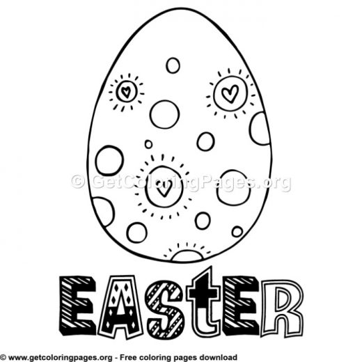 intricate alphabet coloring pages eggs - photo#19