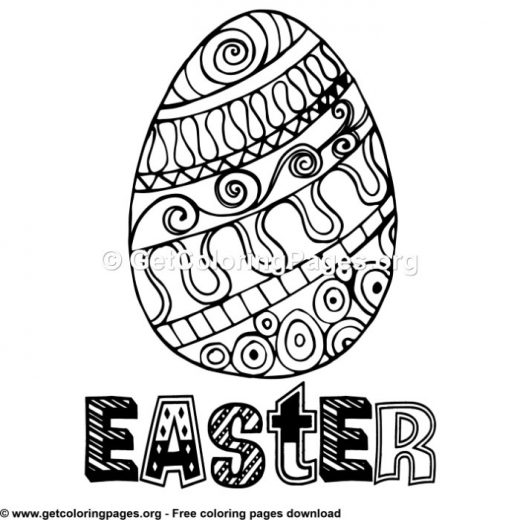 free online easter egg coloring pages – GetColoringPages.org