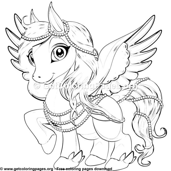 pegasus 4 coloring pages  getcoloringpages