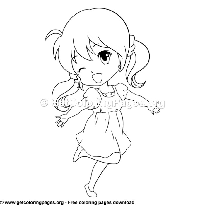 Cute Anime Girl Coloring Pages Getcoloringpages Org