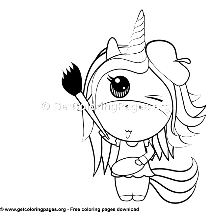 123 Cute Unicorn Coloring Pages Getcoloringpages Org