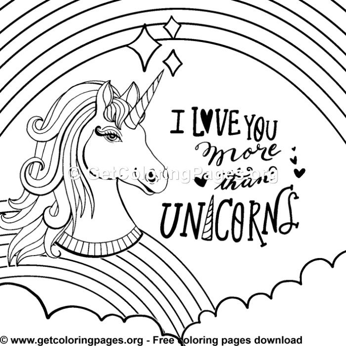 147 Rainbow Unicorn Coloring Pages - GetColoringPages.org