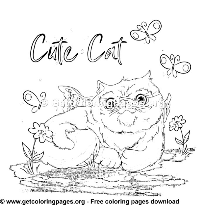 This is an image of Crafty Cat With Wings Coloring Pages